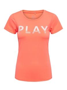 Only Play Sport shirt onpLUNE SS TRAINING TEE PRS 15164913 Neon Orange/W. WHITE