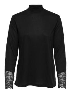 jdycarla l/s lace top jrs 15168311 jacqueline de yong t-shirt black/dtm lace