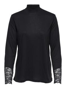 Jacqueline de Yong T-shirt JDYCARLA L/S LACE TOP JRS 15168311 Sky Captain/DTM LACE