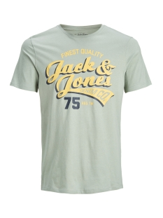 Jack & Jones T-shirt JJELOGO TEE SS CREW NECK 2 COL SS19 12147765 Lily Pad/SLIM FIT