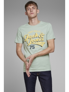 jjelogo tee ss crew neck 2 col ss19 12147765 jack & jones t-shirt lily pad/slim fit