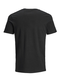 jjelogo tee ss crew neck 2 col ss19 12147765 jack & jones t-shirt black/slim fit