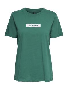 Only T-shirt onlWORD S/S PRINT TOP BOX JRS 15168490 Cadmium Green/BONJOUR1
