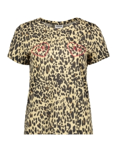 Noisy may T-shirt NMXO S/S TOP X 27007511 Black/TRUE LEOPARD