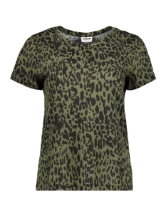 Noisy may T-shirt NMXO S/S TOP X 27007511 Olive Night/GREEN LEOPARD
