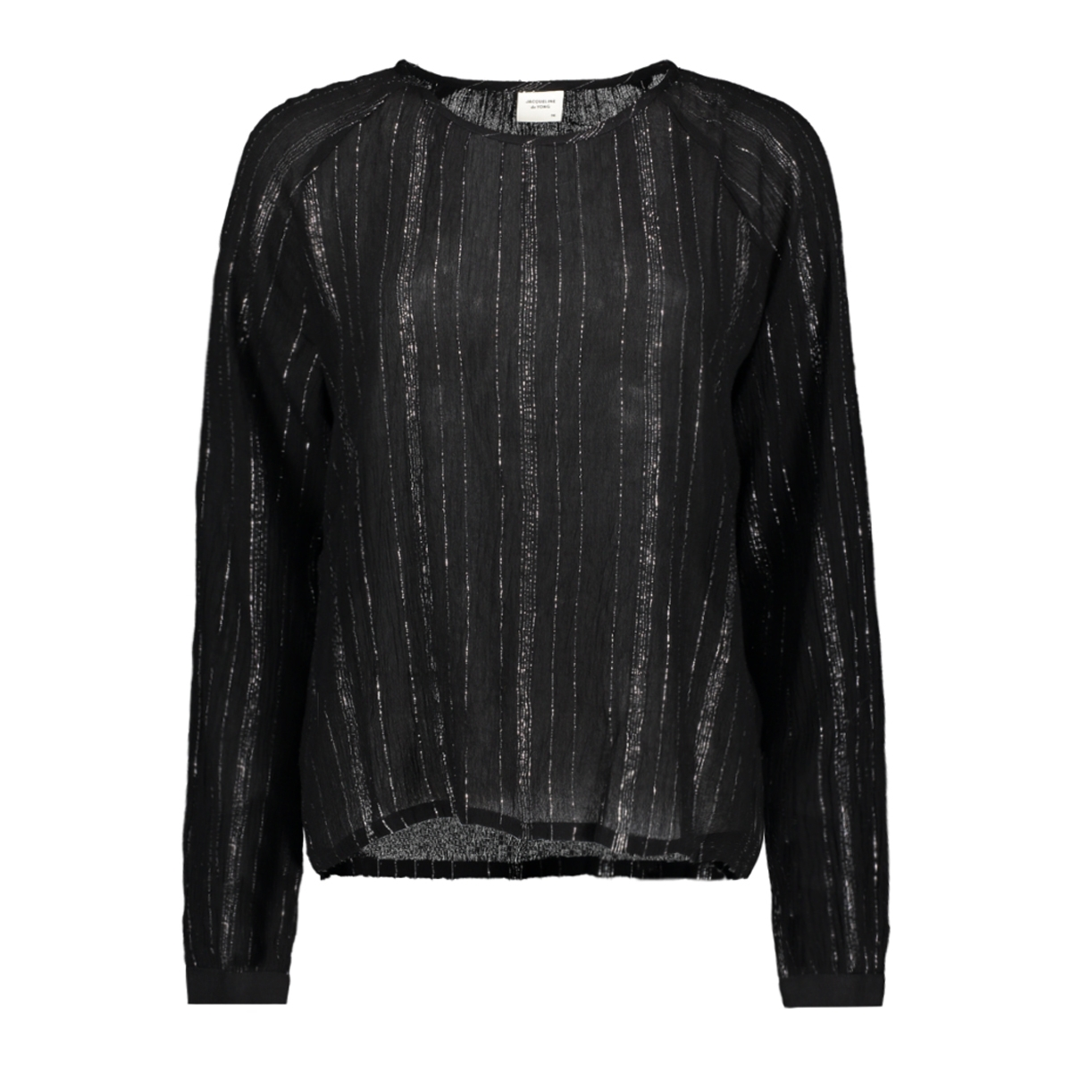 jdyhelena l/s top wvn 15166150 jacqueline de yong t-shirt black/silver lurex