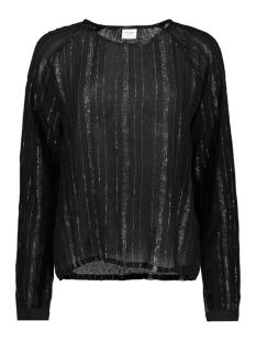 Jacqueline de Yong T-shirt JDYHELENA L/S TOP WVN 15166150 Black/SILVER LUREX