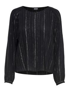 jdyhelena l/s top wvn 15166150 jacqueline de yong t-shirt black/black lurex