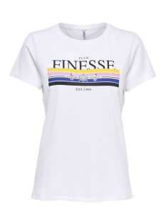 Only T-shirt onlKITA S/S NEW/FAB/FINESSE TOP BOX 15168483 Bright White/FINESSE1