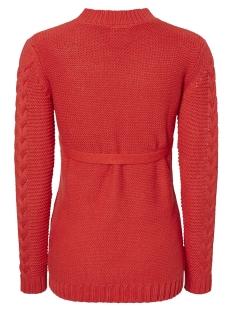 mlpocas l/s knit top v. 20009341 mama-licious positie trui mars red