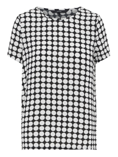 Vero Moda T-shirt VMSARAH DOT S/S MIDI TOP D2-1 WVN 10210242 Black/Snow White