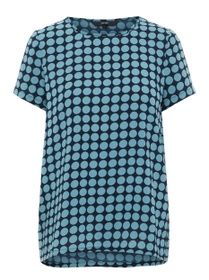 Vero Moda T-shirt VMSARAH DOT S/S MIDI TOP D2-1 WVN 10210242 Night Sky/ Smoke Blue