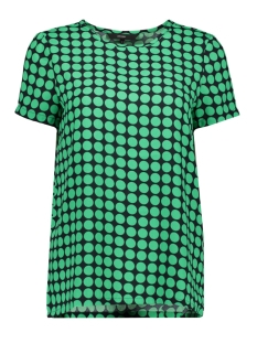 Vero Moda T-shirt VMSARAH DOT S/S MIDI TOP D2-1 WVN 10210242 Night Sky/Holy Green