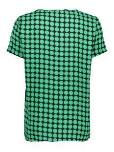 vmsarah dot s/s midi top d2-1 wvn 10210242 vero moda t-shirt night sky/holy green