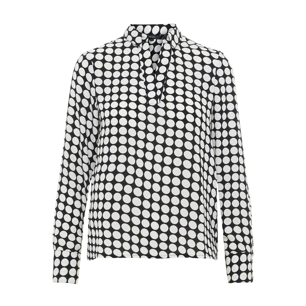 vmsarah dot l/s midi top d2-1 wvn 10210148 vero moda t-shirt black/snow white