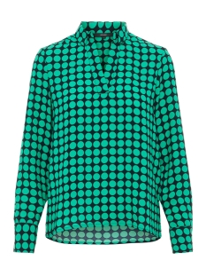 vmsarah dot l/s midi top d2-1 wvn 10210148 vero moda t-shirt night sky/holly green