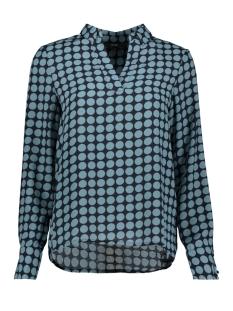 vmsarah dot l/s midi top d2-1 wvn 10210148 vero moda blouse night sky/smoke blue