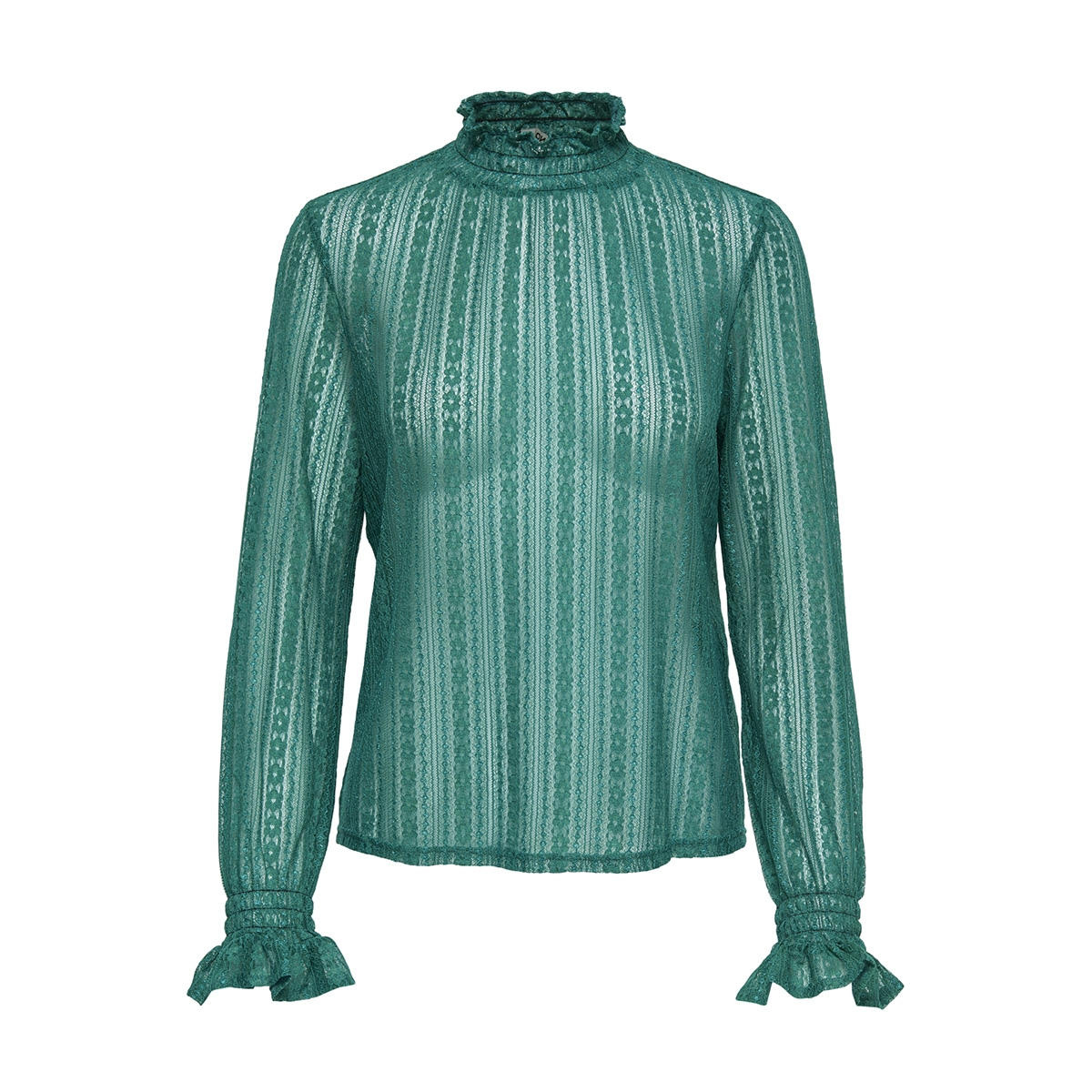 onlelma ls highneck top wvn 15171039 only blouse cadmium green