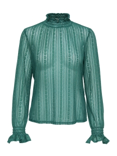 Only T-shirt onlELMA LS HIGHNECK TOP WVN 15171039 Cadmium Green