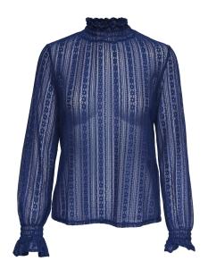 onlelma ls highneck top wvn 15171039 only t-shirt navy peony