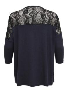 carcarma 3/4 lace top 15164191 only carmakoma t-shirt night sky/black lace