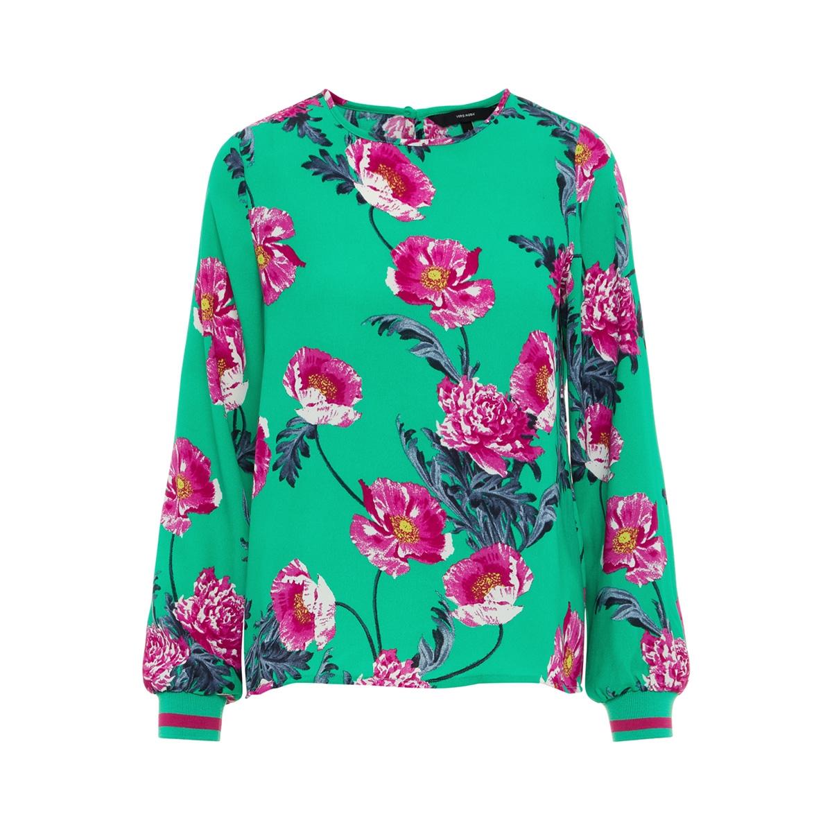 vmholly l/s midi top d2-1 wvn 10210142 vero moda blouse holly green