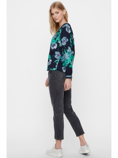 vmholly l/s midi top d2-1 wvn 10210142 vero moda t-shirt night sky
