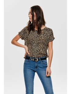 onlmoster aop s/s top jrs 15182852 only t-shirt black/leo aop