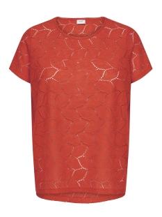Jacqueline de Yong T-shirt JDYTAG S/S LACE TOP JRS RPT2 NOOS 15152331 Fiery Red