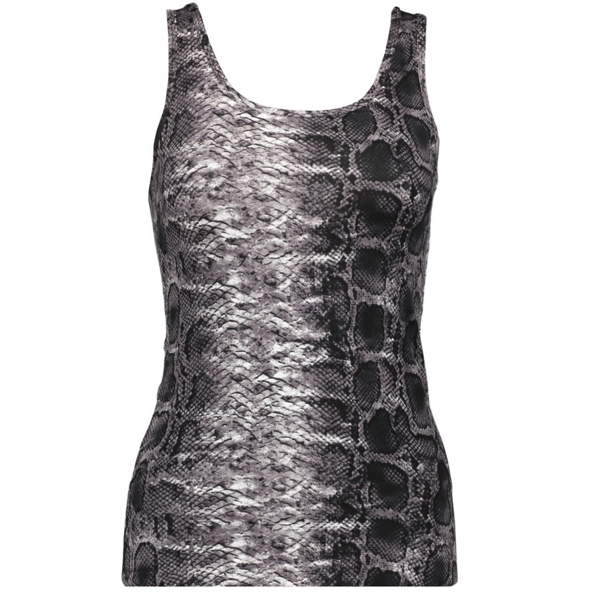 onllive love  printed tank top jrs 15170352 only top cloud dancer/snake grey