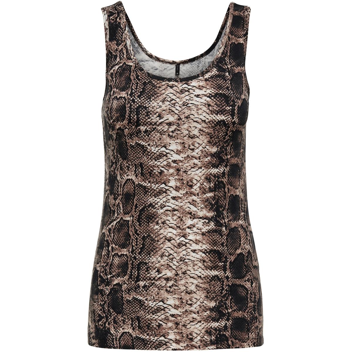 onllive love  printed tank top jrs 15170352 only top black/snake brau