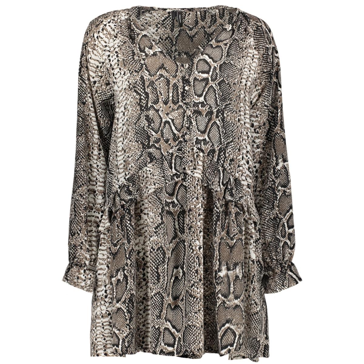 vmsakira zigga l/s tunic exp 10217156 vero moda tuniek snow white/snake