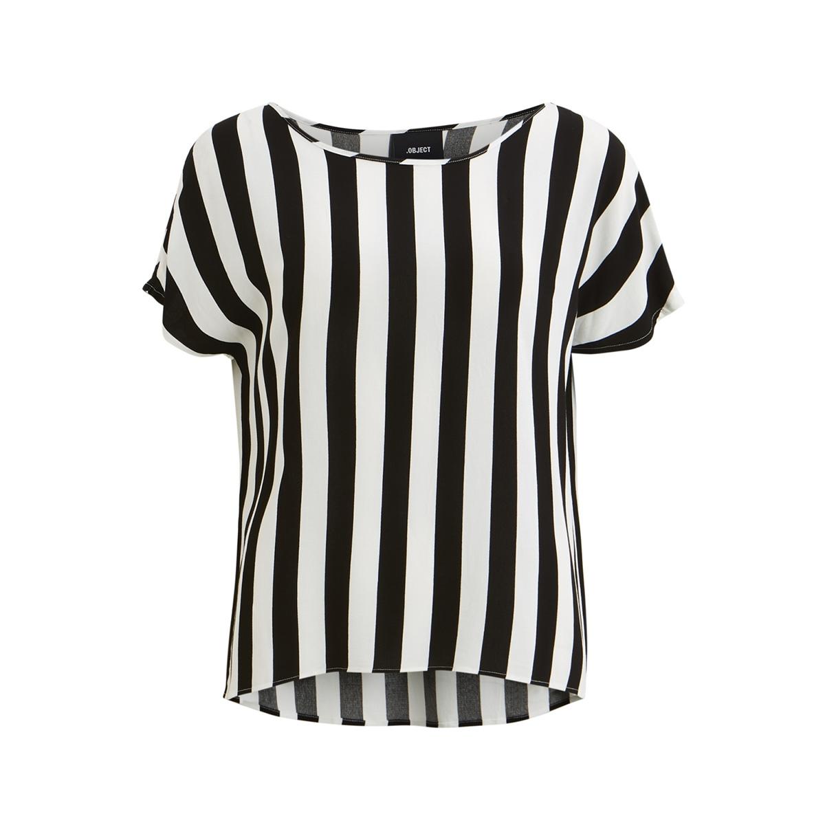 objbay s/s urban top aop seasonal 23028784 object t-shirt black/w. white s