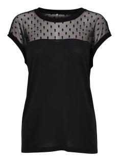 Only T-shirt onlKIRSTY S/L MIX TOP BOX JRS 15166816 Black/DOTS