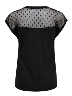 onlkirsty s/l mix top box jrs 15166816 only t-shirt black/dots