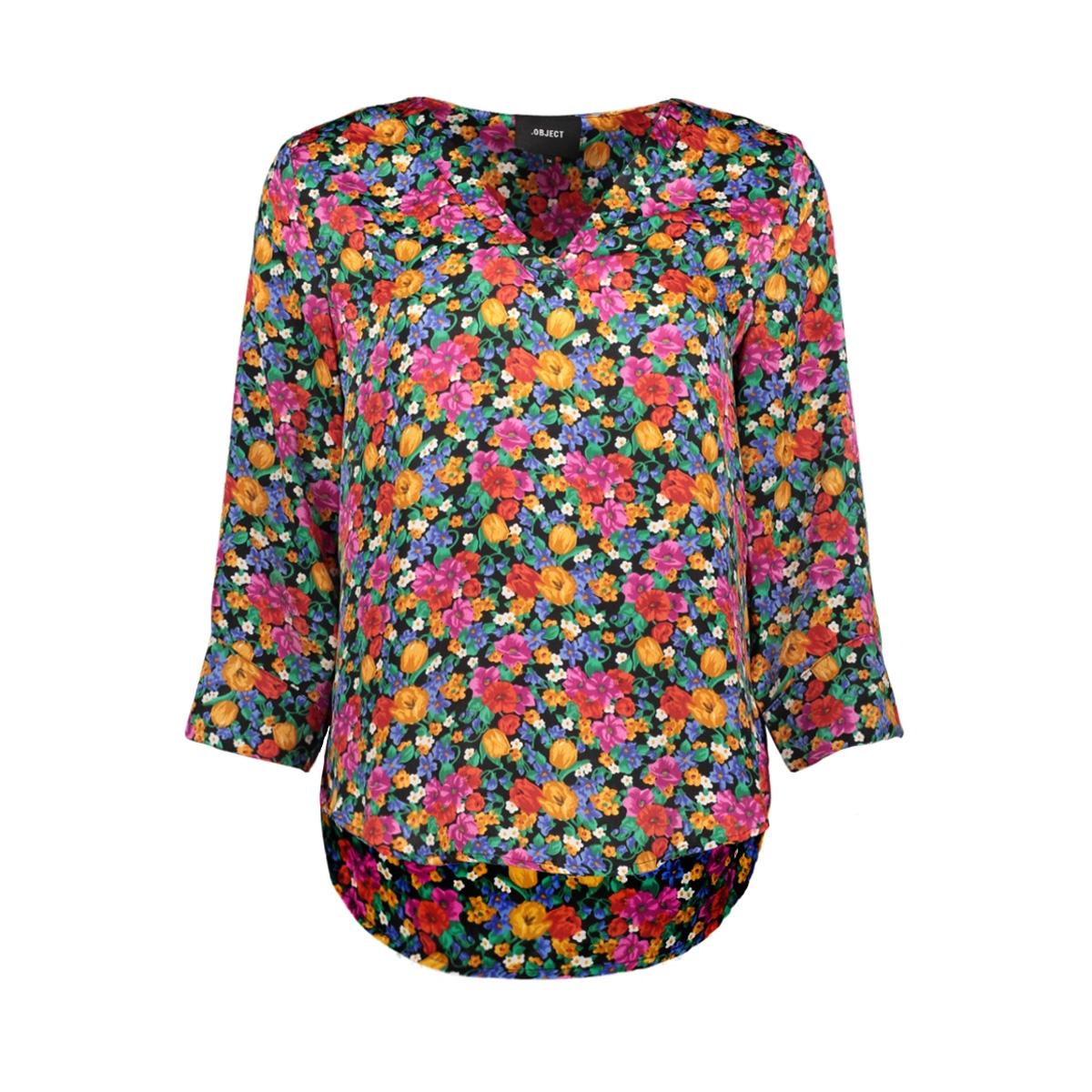 objvioletta bay 3/4 top 101 23029650 object t-shirt maize/flower aop