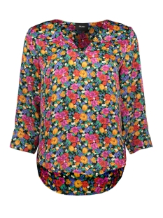 Object T-shirt OBJVIOLETTA BAY 3/4 TOP 101 23029650 Maize/FLOWER AOP