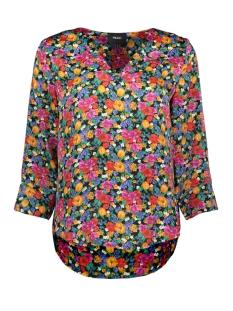 objvioletta bay 3/4 top 101 23029650 object blouse maize/flower aop