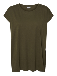Noisy may T-shirt NMMATHILDE S/S LOOSE LONG TOP NOOS 27002573 Olive Night