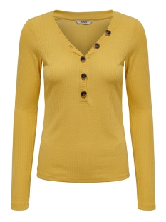 Only Trui onlMONA L/S BUTTON RIB TOP JRS 15181271 Yolk Yellow