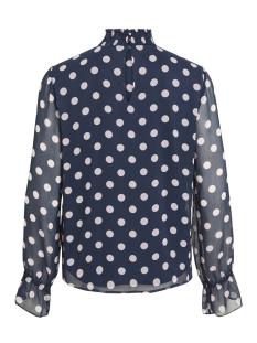 vidotly l/s  top 14050967 vila t-shirt navy blazer/w. lilac s