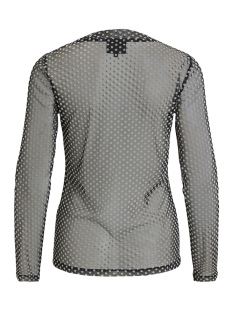 objlouis jersey l/s o-neck top 101 23028699 object t-shirt black/dots