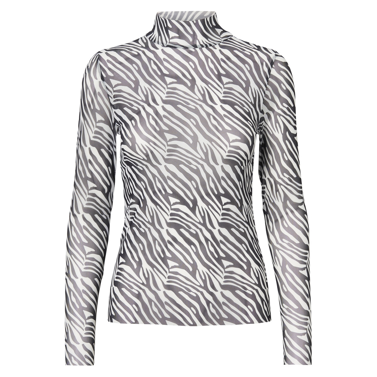 nmkarla l/s top 8 27005085 noisy may t-shirt black/zebra