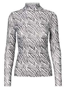 Noisy may T-shirt NMKARLA L/S TOP 8 27005085 Black/ZEBRA