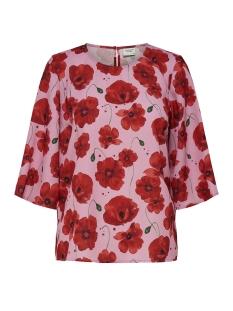 Jacqueline de Yong T-shirt JDYINDIE 3/4 TOP WVN 15169581 Rosebloom/FIREY RED