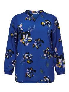 Only Carmakoma T-shirt carLUX CECILIA LS TOP AOP 1 15172706 Surf The Web/BLUE FLOWER