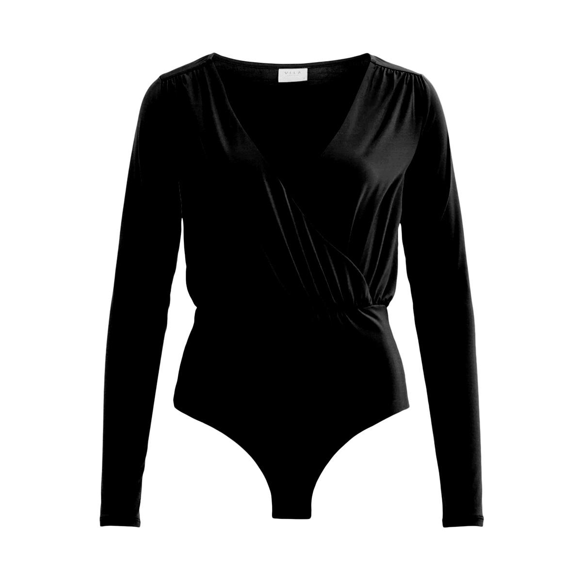 viseeba l/s bodystocking 14050805 vila t-shirt black