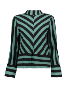 Object Blouse OBJSANNE L/S TOP 101 23028717 Blue Spruce/BLACK STRIPES