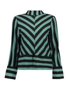 objsanne l/s top 101 23028717 object blouse blue spruce/black stripes
