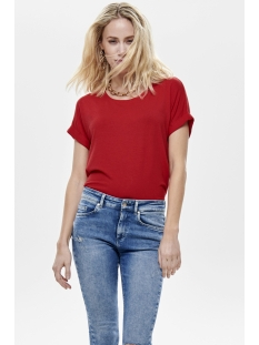onlmoster s/s o-neck top noos jrs 15106662 only t-shirt high risk red